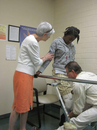 physical therapy for girl with prosthetic leg
